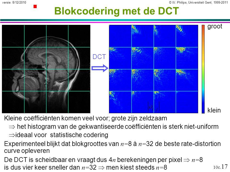 Blokcodering met de DCT