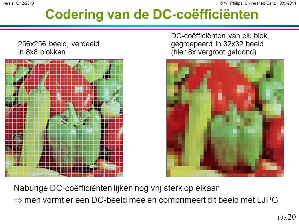Codering van de DC-coëfficiënten