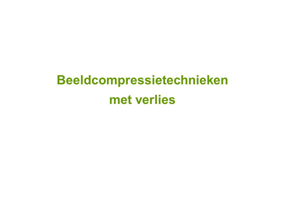 Beeldcompressietechnieken met verlies
