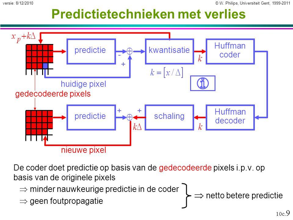Predictietechnieken met verlies