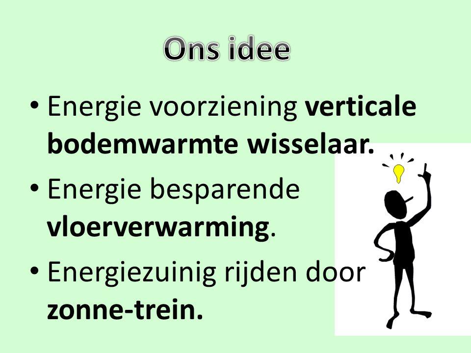 Ons idee Energie voorziening verticale bodemwarmte wisselaar.