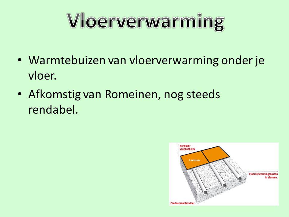 Vloerverwarming Warmtebuizen van vloerverwarming onder je vloer.