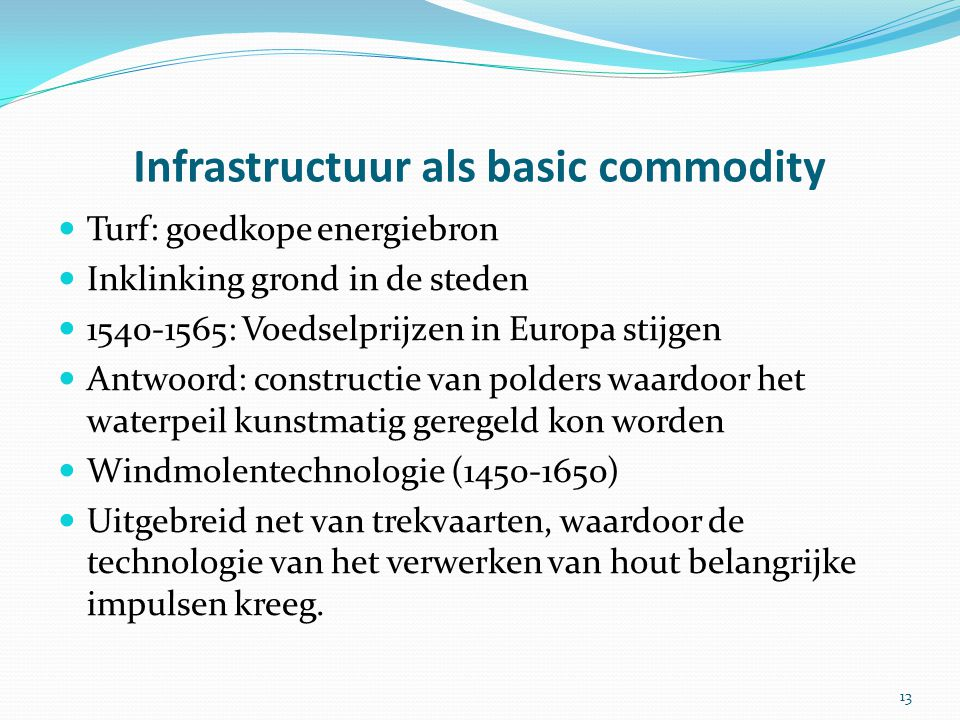 Infrastructuur als basic commodity