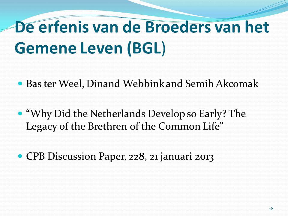 De erfenis van de Broeders van het Gemene Leven (BGL)