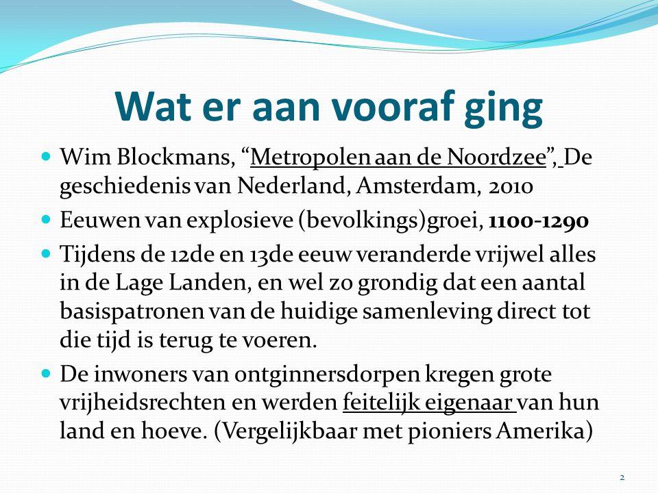 Wat er aan vooraf ging Wim Blockmans, Metropolen aan de Noordzee , De geschiedenis van Nederland, Amsterdam, 2010.