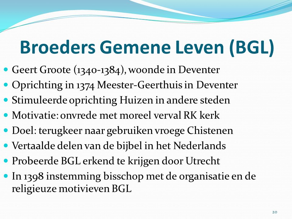 Broeders Gemene Leven (BGL)