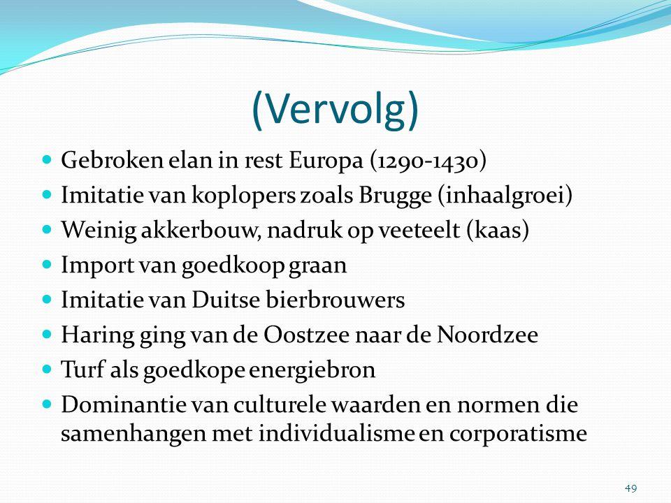 (Vervolg) Gebroken elan in rest Europa (1290-1430)