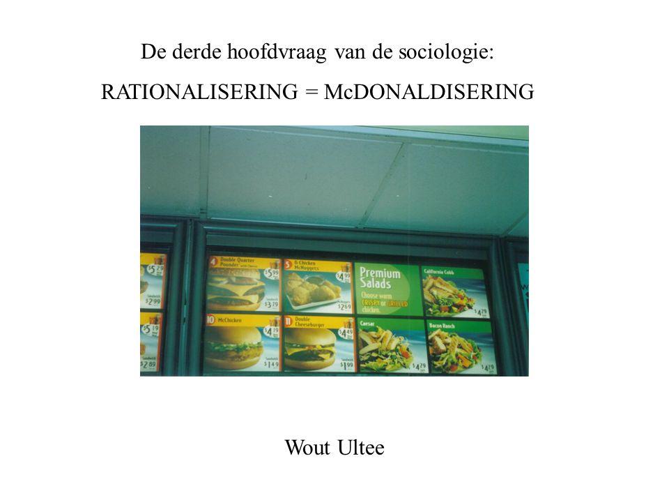 De derde hoofdvraag van de sociologie: