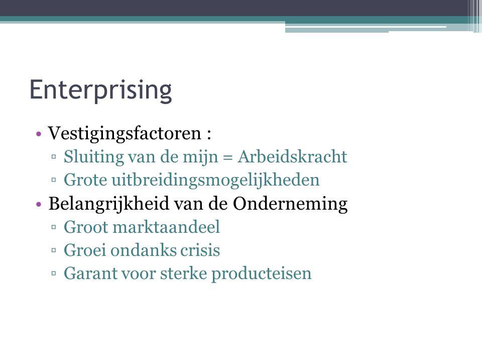 Enterprising Vestigingsfactoren : Belangrijkheid van de Onderneming