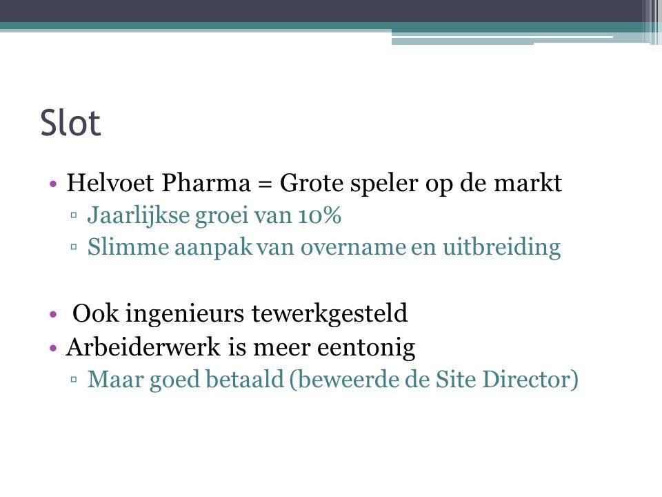Slot Helvoet Pharma = Grote speler op de markt
