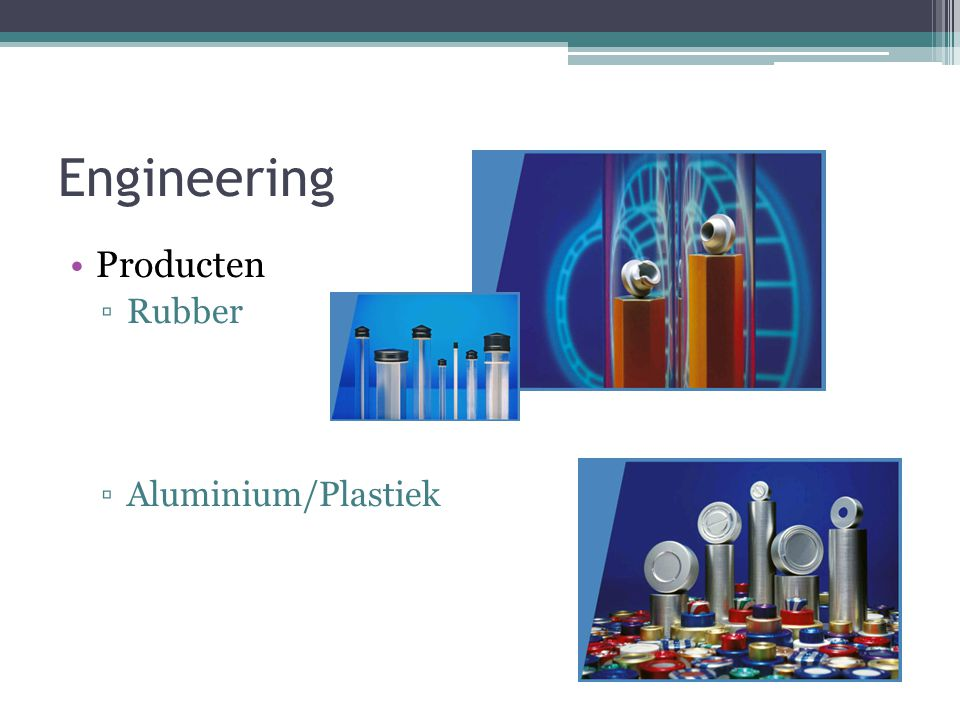 Engineering Producten Rubber Aluminium/Plastiek