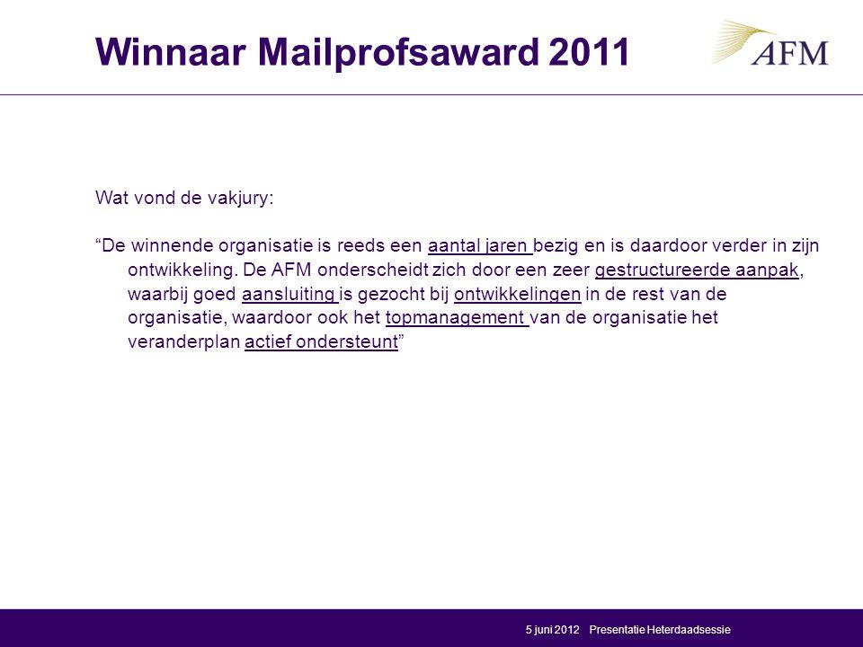 Winnaar Mailprofsaward 2011