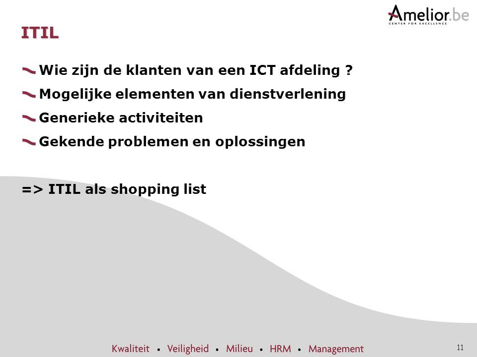 ITIL Wie zijn de klanten van een ICT afdeling