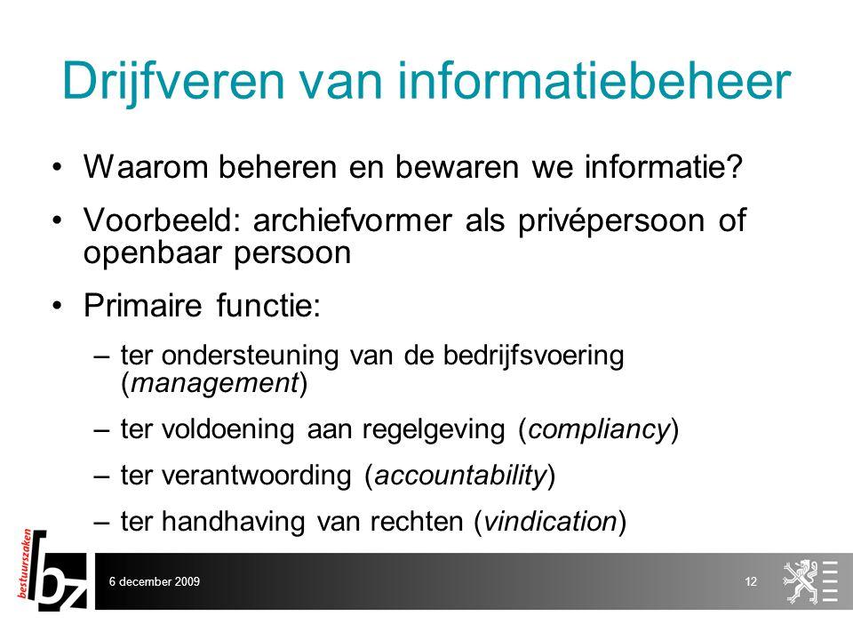Drijfveren van informatiebeheer