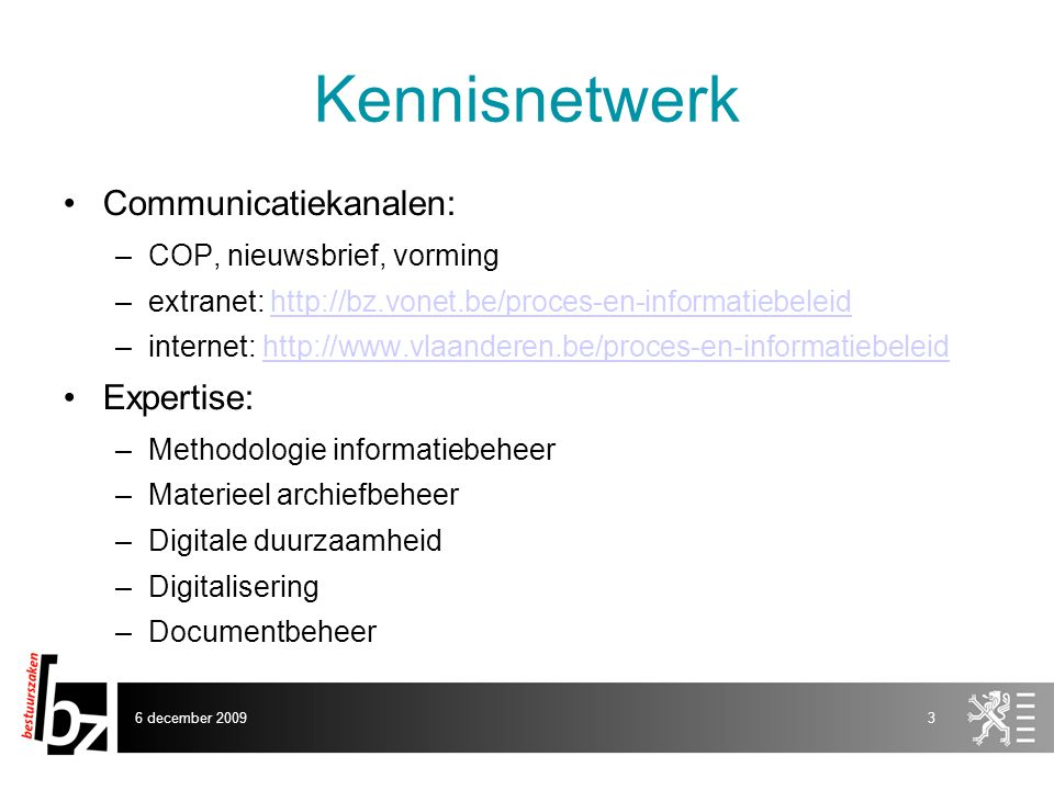 Kennisnetwerk Communicatiekanalen: Expertise: