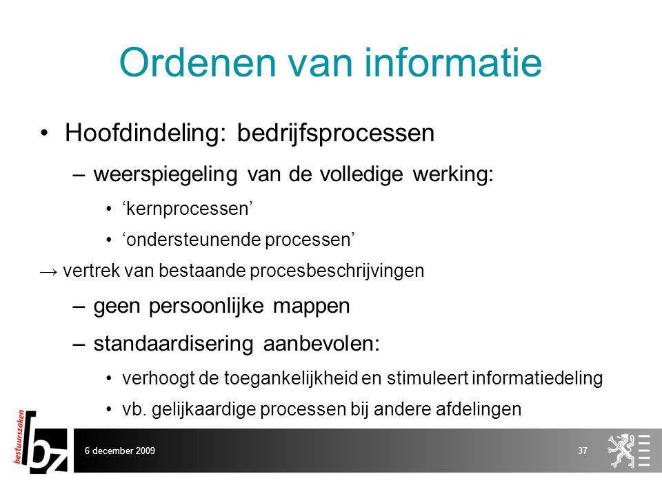 Ordenen van informatie