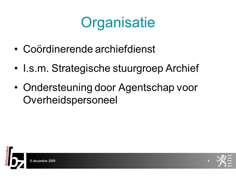 Organisatie Coördinerende archiefdienst