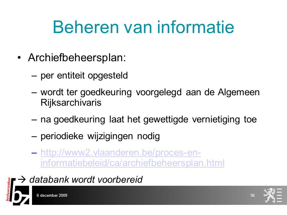 Beheren van informatie