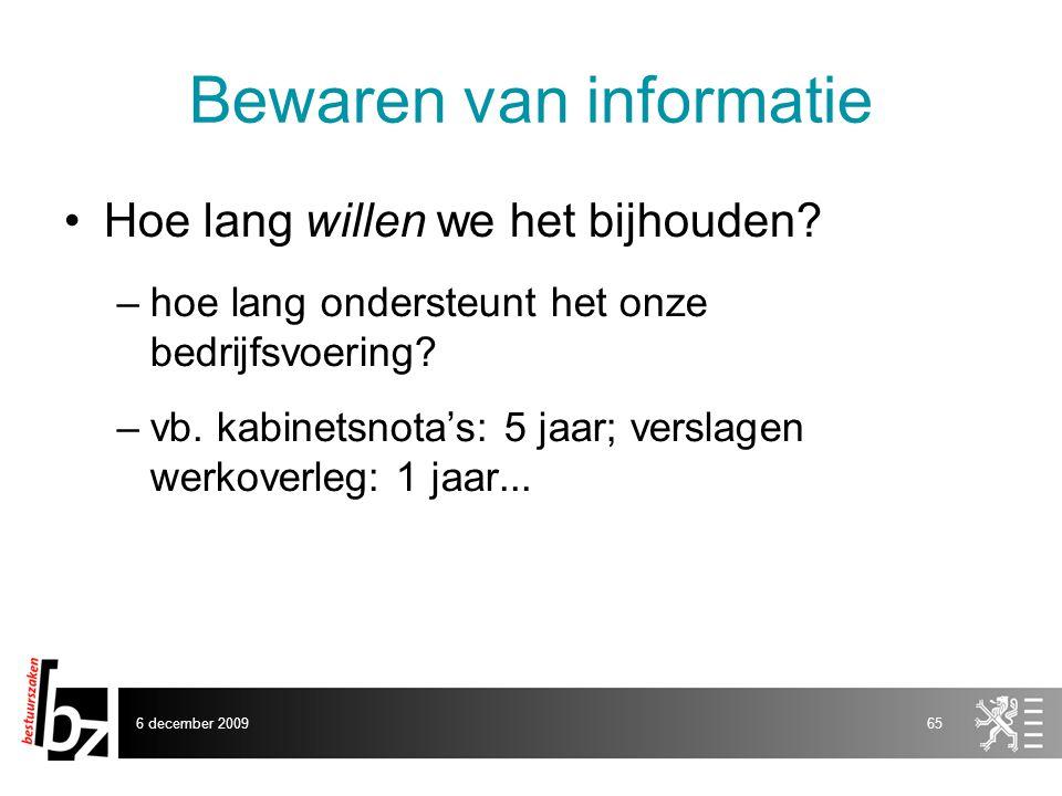 Bewaren van informatie