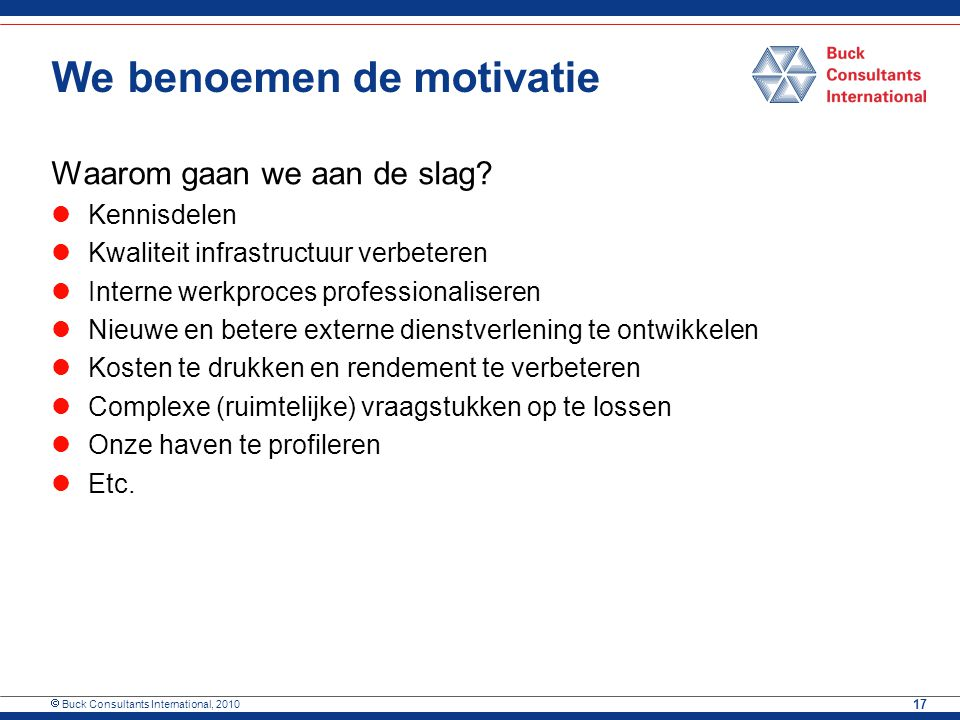 We benoemen de motivatie