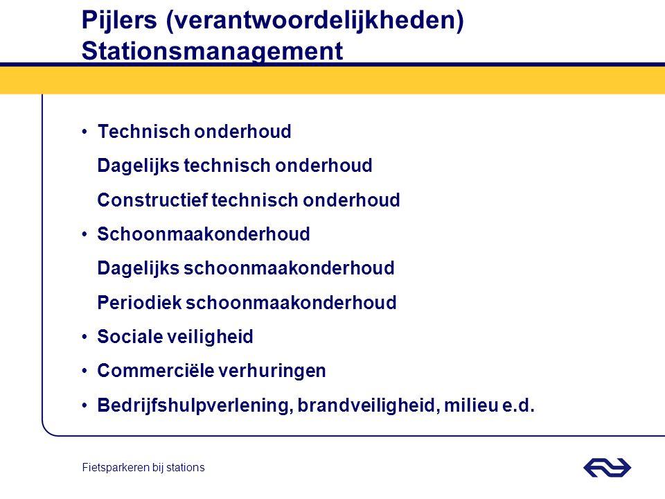 Pijlers (verantwoordelijkheden) Stationsmanagement