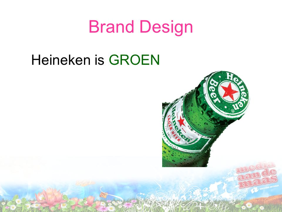 Brand Design Heineken is GROEN