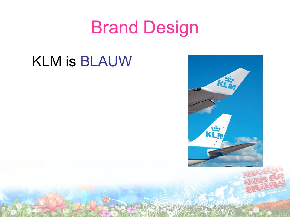 Brand Design KLM is BLAUW