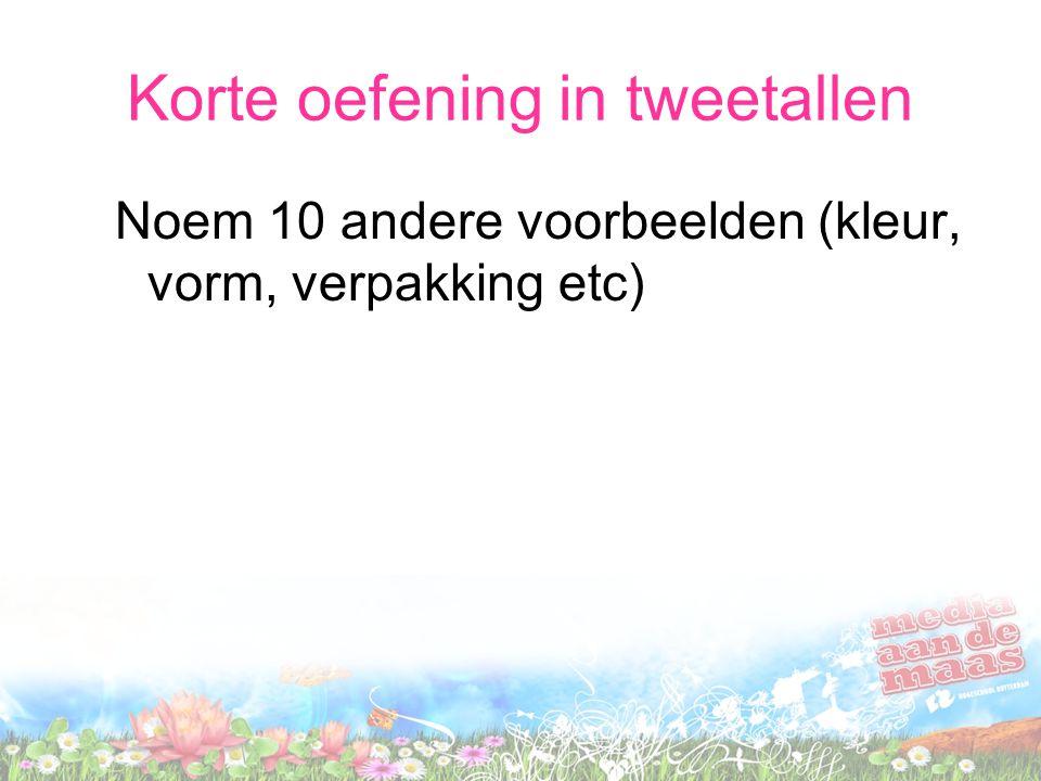 Korte oefening in tweetallen