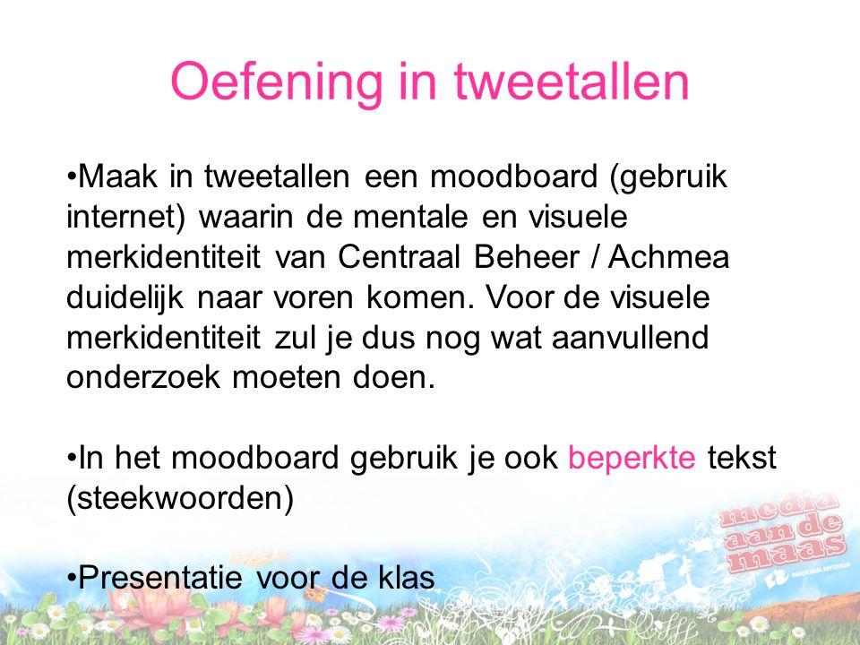 Oefening in tweetallen
