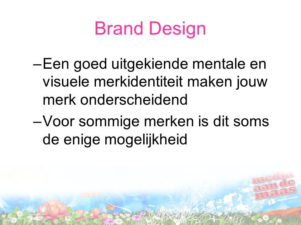 Brand Design Een goed uitgekiende mentale en visuele merkidentiteit maken jouw merk onderscheidend.