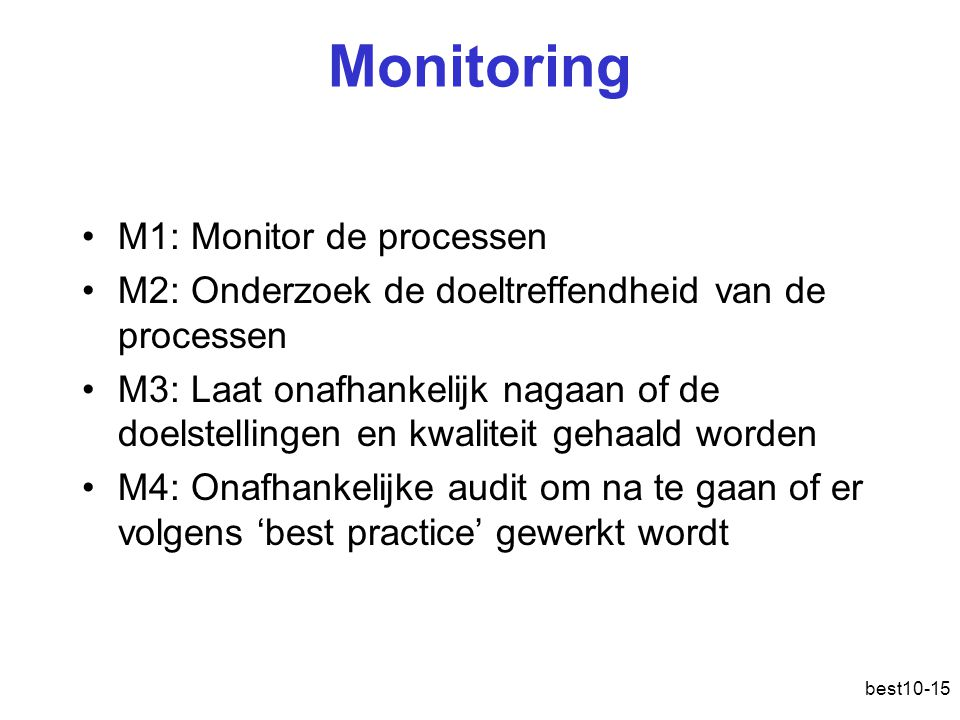 Monitoring M1: Monitor de processen