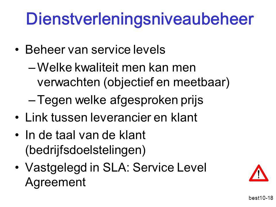 Dienstverleningsniveaubeheer