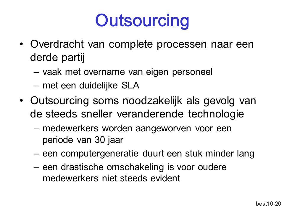 Outsourcing Overdracht van complete processen naar een derde partij