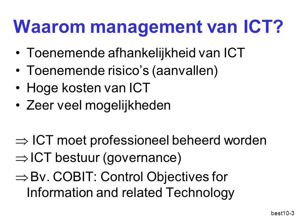 Waarom management van ICT