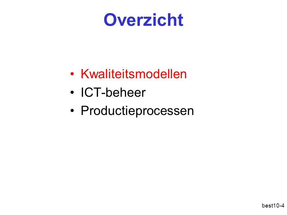 Overzicht Kwaliteitsmodellen ICT-beheer Productieprocessen