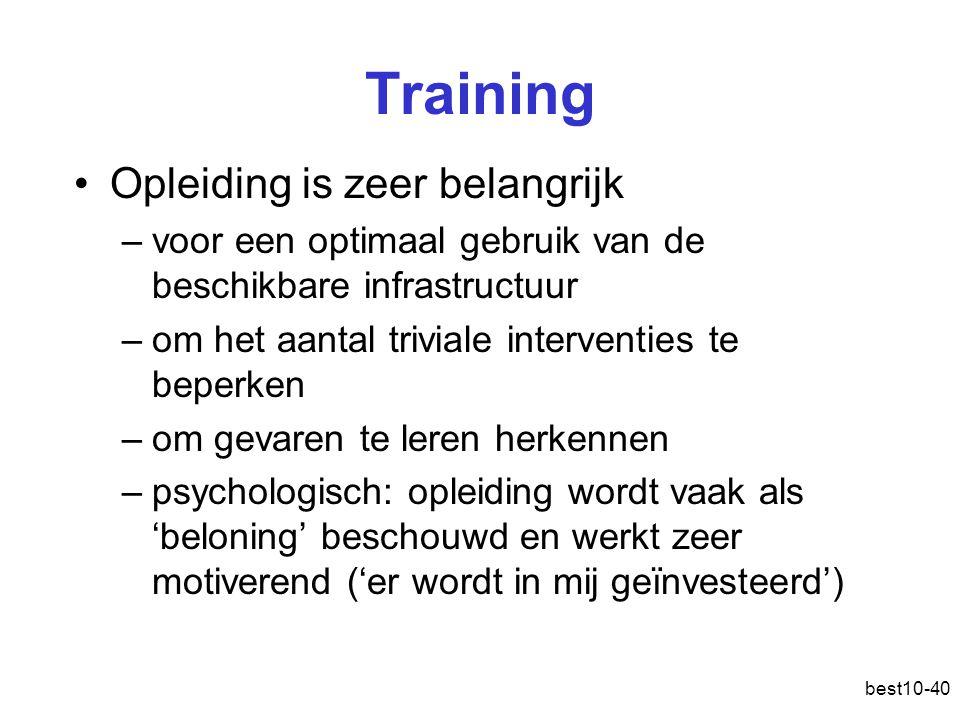 Training Opleiding is zeer belangrijk