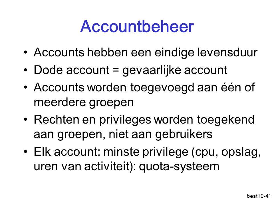 Accountbeheer Accounts hebben een eindige levensduur