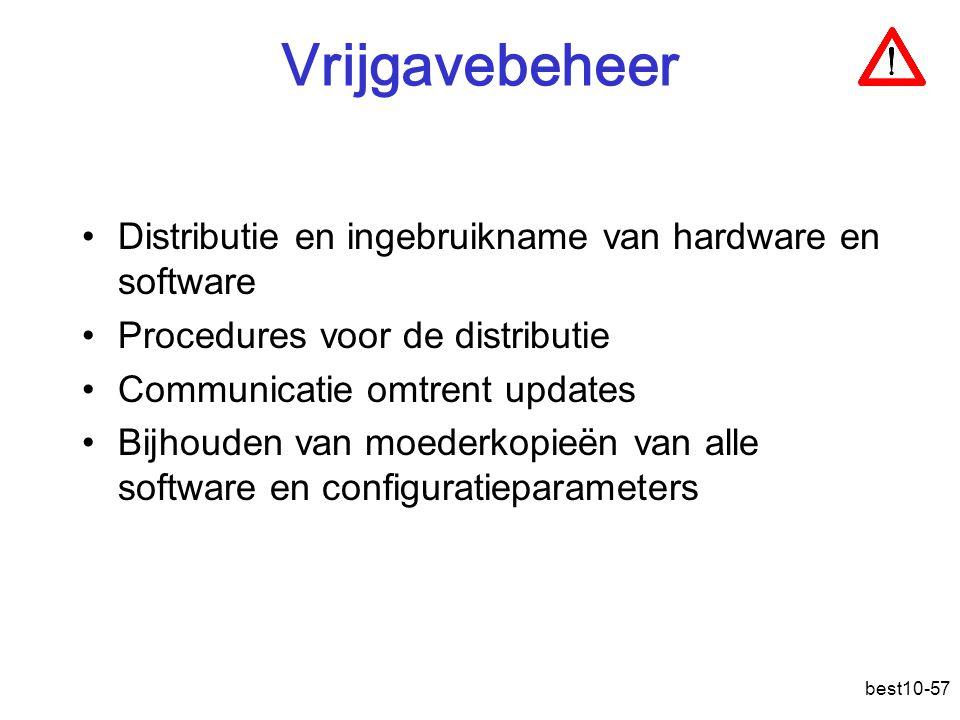 Vrijgavebeheer Distributie en ingebruikname van hardware en software