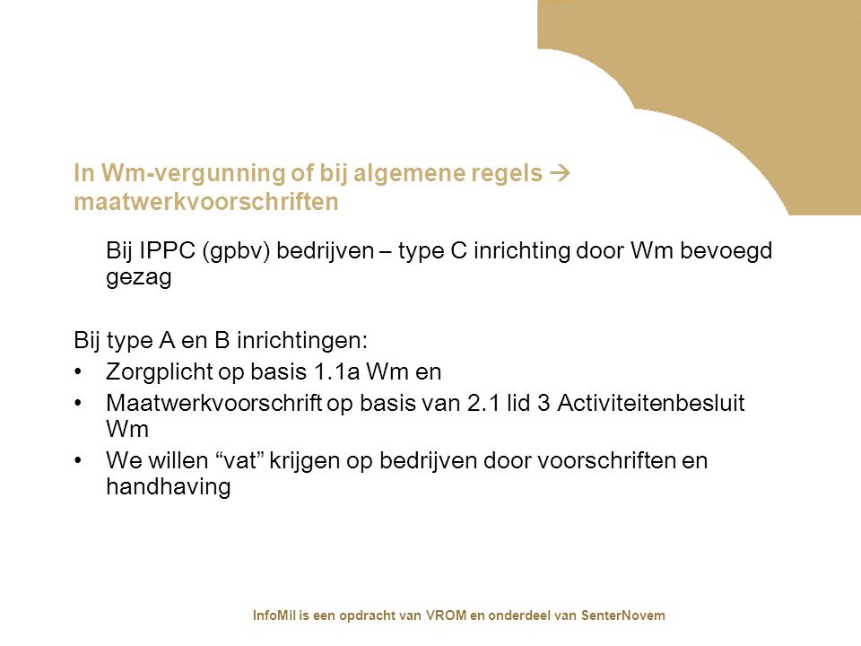 In Wm-vergunning of bij algemene regels  maatwerkvoorschriften