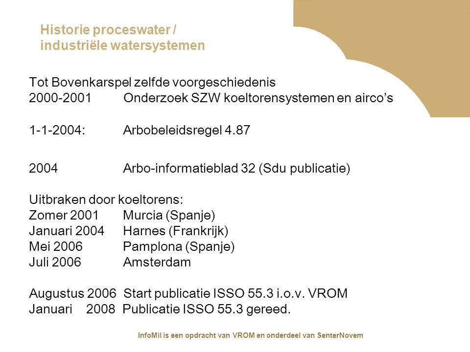 Historie proceswater / industriële watersystemen
