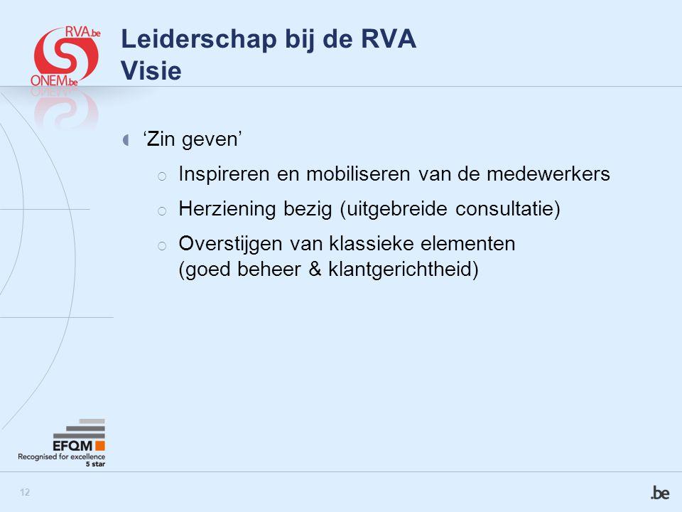 Leiderschap bij de RVA Visie