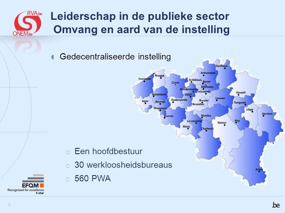 Leiderschap in de publieke sector Omvang en aard van de instelling