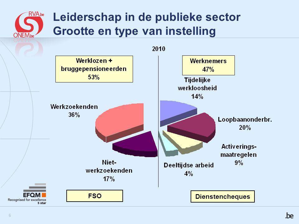 Leiderschap in de publieke sector Grootte en type van instelling