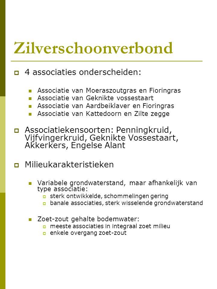 Zilverschoonverbond 4 associaties onderscheiden: