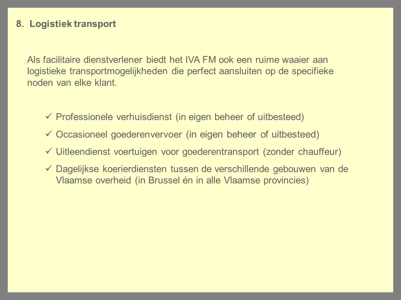 Logistiek transport