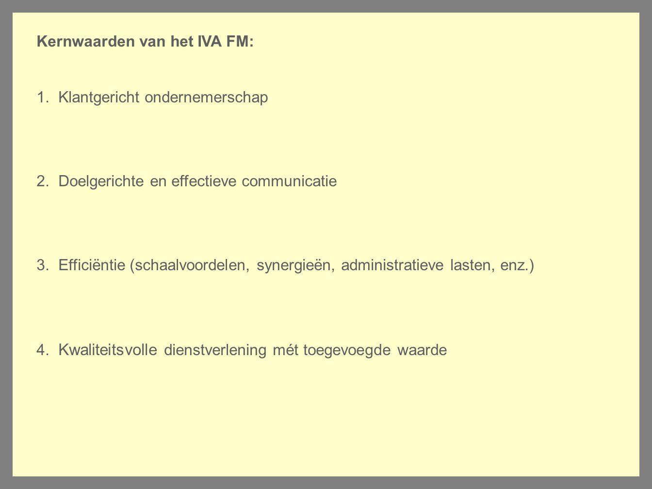 Kernwaarden van het IVA FM: