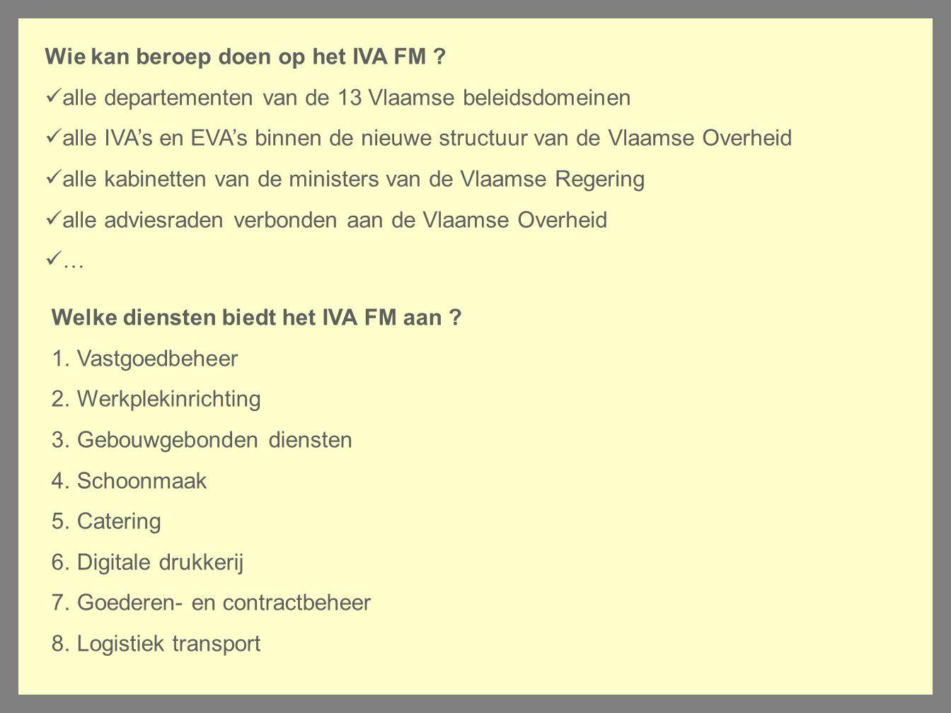 Wie kan beroep doen op het IVA FM