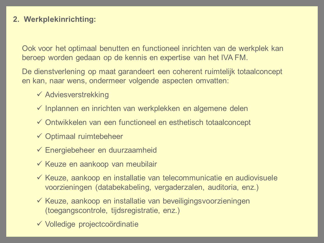 Werkplekinrichting: