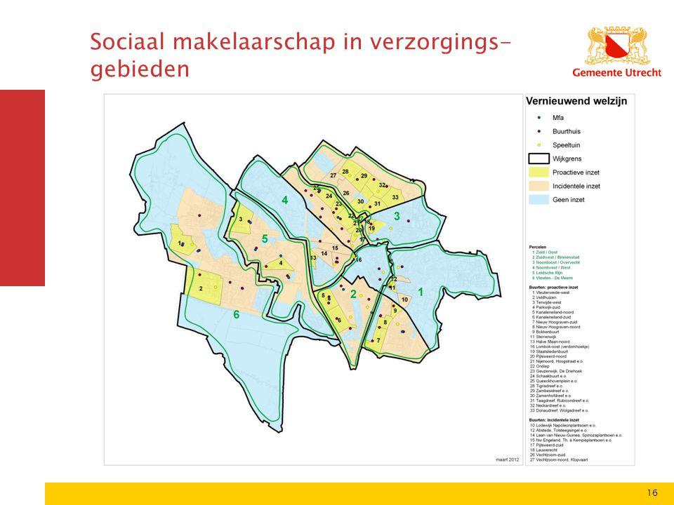 Sociaal makelaarschap in verzorgings-gebieden