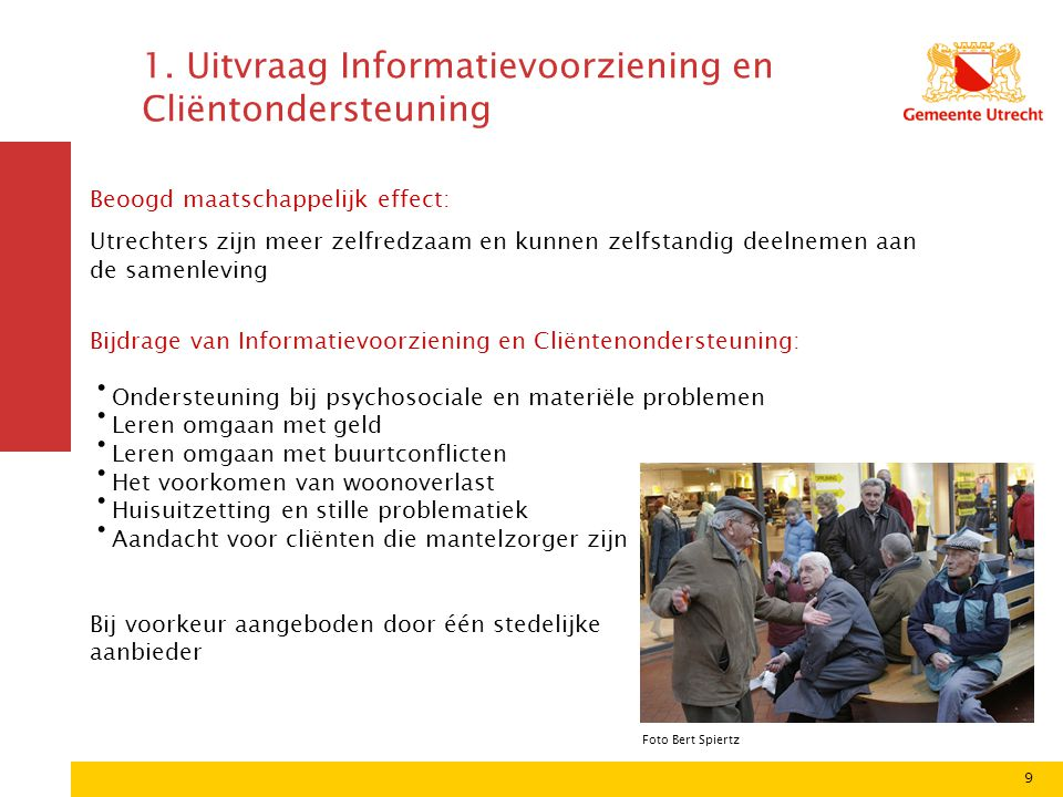 1. Uitvraag Informatievoorziening en Cliëntondersteuning